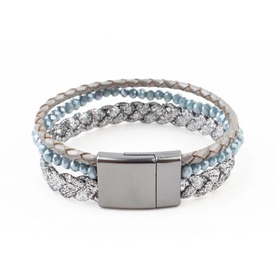 "Bracelet ""Braid"" blue"