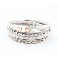 "Wrap bracelet "" Scales "" silver grey"