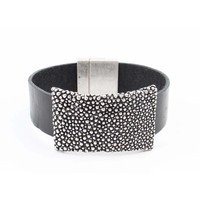 "Bracelet ""Bed of nails"" black"