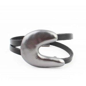 """Armband """"Maan"""" zwart"""