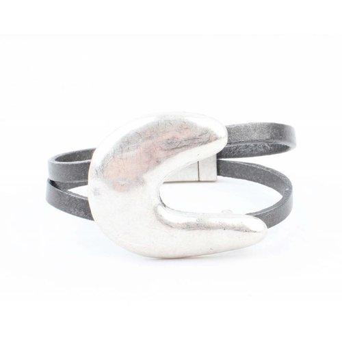 """Armband """"Moon"""" grau"""