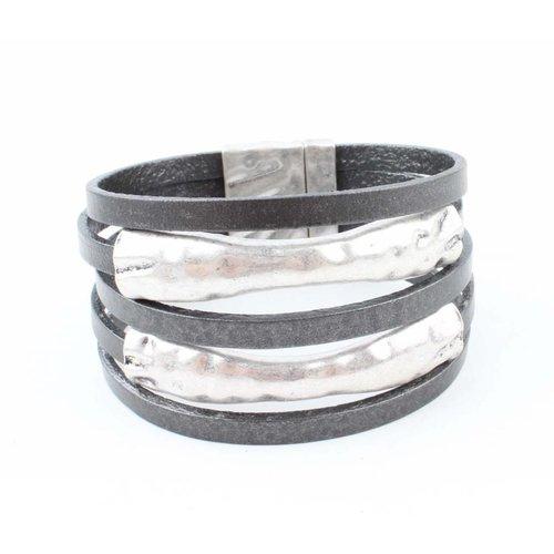 "Armband ""Metallrohr"" grau"