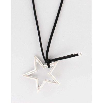 """Lange Halskette """"Star"""" schwarz"""