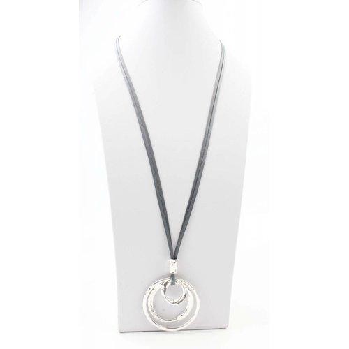 """Halskette """"Drei Ringe"""" schwarz"""