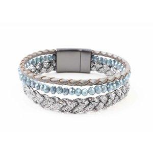 "Armband ""Braid"" blau"