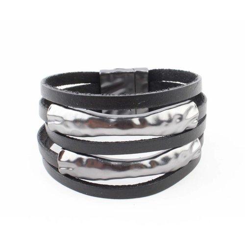 "Armband ""Metallrohr"" schwarz"
