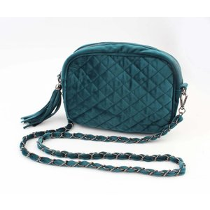 "Cross body bag ""Quilted"" petrol"