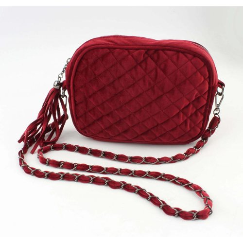"Cross body bag ""Quilted"" Red"