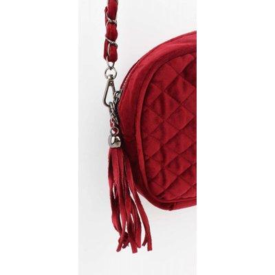 """Crossbody tas """"Gewatteerd"""" rood"""
