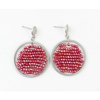 "Earring ""Zyenne"" Red"