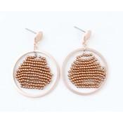 """Earring """"Zaar"""" copper"""
