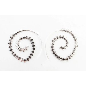 "Earring Spiral ""duplicate rows"" silver"