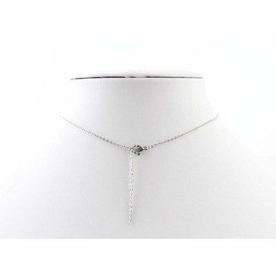"""Kürze Halskette """"Feder"""" silber"""