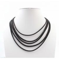"""Halskette """"5-Zeilen"""" schwarz"""