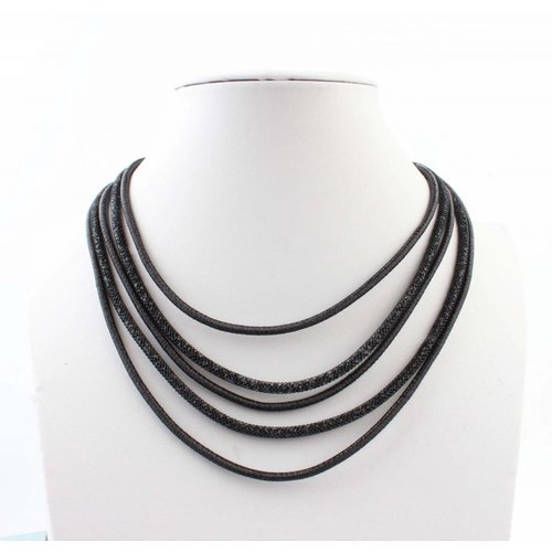 "Necklace ""5-rows"" black"