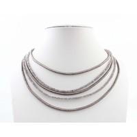 """Halskette """"5-Zeilen"""" grau"""