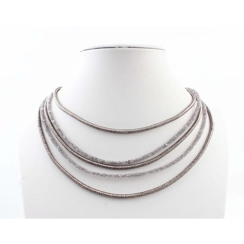 "Necklace ""5-rows"" grey"