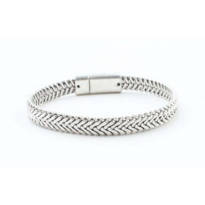 """Armband """"Marley"""" old zilver"""