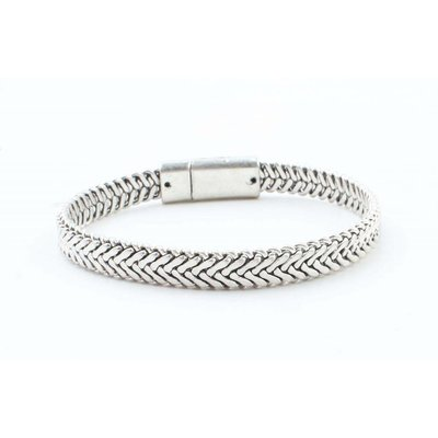 "Stalen armband ""Marley"" old zilver"