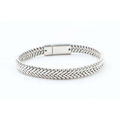 "Stalen armband ""Marley"" zilver"