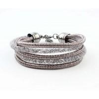 """Bracelet """"5-rows"""" grey"""