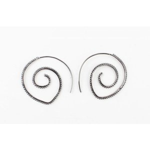 "Earring spiral ""Balls"" anthracite"
