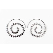 "Earring spiral ""duplicate rows"" anthracite"