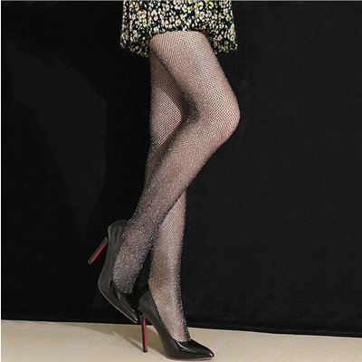 "Fishnet tights ""Glitter"" black"