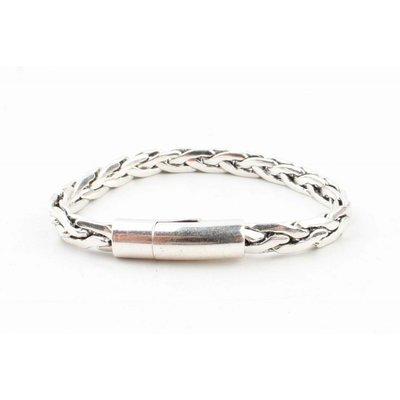 """Stalen armband """"Pippa"""" shiny zilver"""