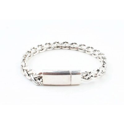 "Stalen armband ""Esma"" shiny zilver"
