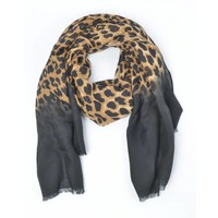 "Scarf ""Leopard print"" brown / black"