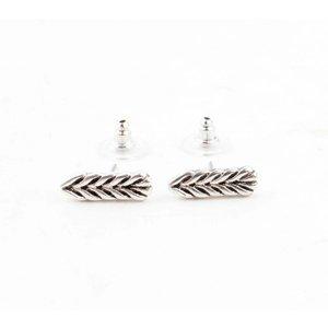 "Earring ""Laurier"" silver"