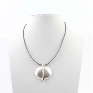 """Necklace """"Earth"""" grey"""