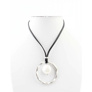 "Necklace ""Pearl"" black/anthracite"