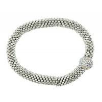 "Bracelet ""Rhinestone ball"" silver"