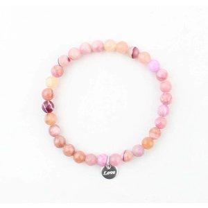 Bracelet natural stone rose quartz