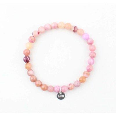 Armband natuursteen Rose quartz