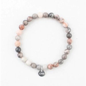 Armband Naturstein rosa Mondstein