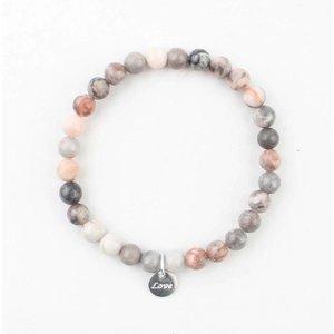 Bracelet natural stone pink moonstone