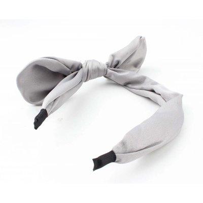 """Hair circlet """"Bow & Pearl"""" grey"""