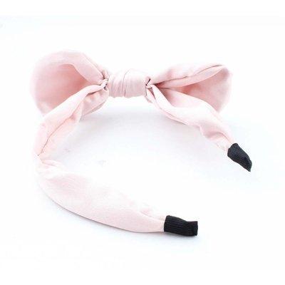 """Hair circlet """"Bow & Pearl"""" pink"""