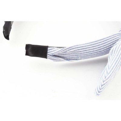 "Hair circlet ""Stripes"" blue"