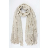 "Scarf ""Washed look"" sand"