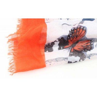 "Schal ""Schmetterlinge"" Orange"