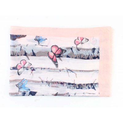 "Schal ""Schmetterlinge"" rosa"