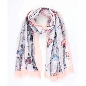 "Scarf ""Butterfly"" pink"