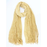 """Scarf """"Washed look"""" yellow"""