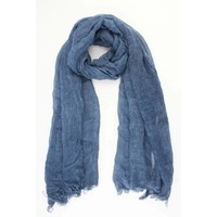 """Scarf """"Washed look"""" blue"""