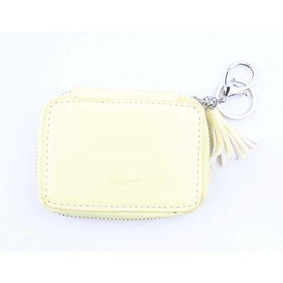 """Bags pendant """"Happy"""" yellow"""
