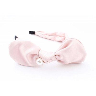 """Haar-reif """"Bow & Perle"""" rosa"""